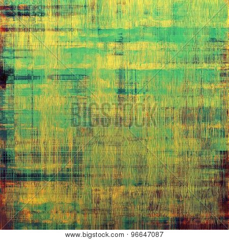 Grunge old texture as abstract background. With different color patterns: yellow (beige); brown; green; cyan