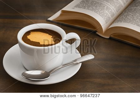 Still Life - Coffee With Map Of Tanzania