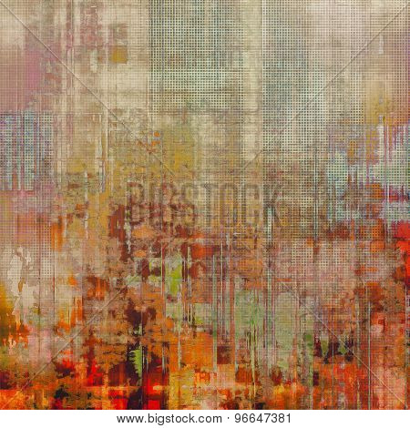 Vintage texture. With different color patterns: yellow (beige); brown; red (orange); cyan