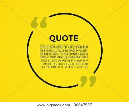 Quote text bubble. Commas, note, message and comment. Vector stock element for design.