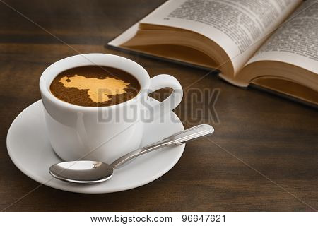 Still Life - Coffee With Map Of Venezuela