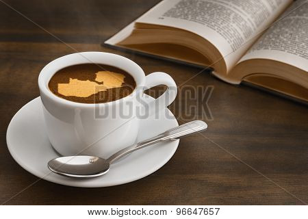 Still Life - Coffee With Map Of Zambia