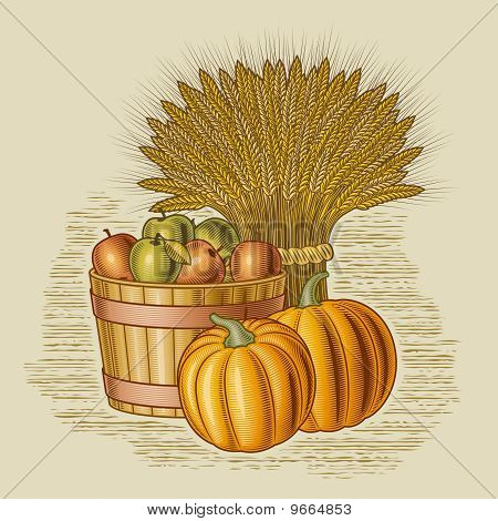 Retro harvest still life