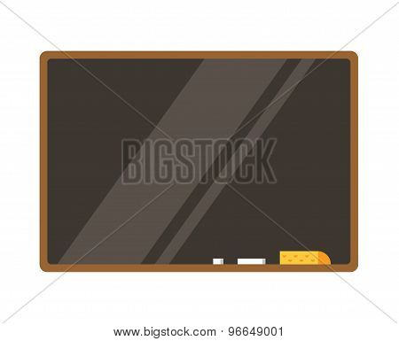 Empty board isolated. Back to school. Education objects, university, college symbols or knowledge, b