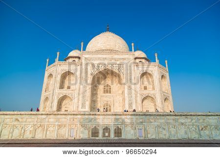 View of Taj Mahal from East side.