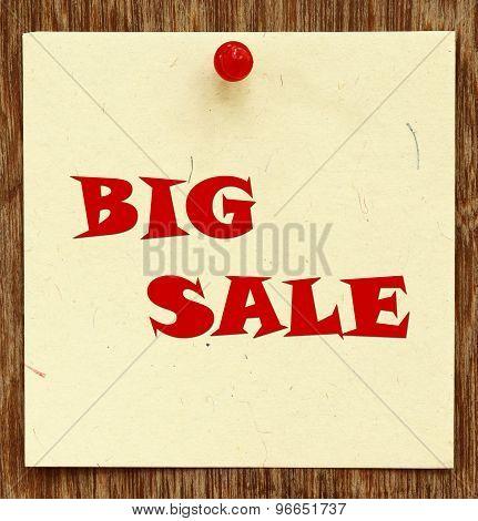 Notice Written Beg Sale