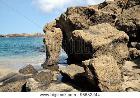 Boulders By The Ocean