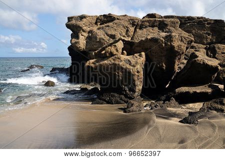 Beach And Boulders