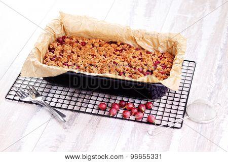 homemade gooseberry cake - sweet food
