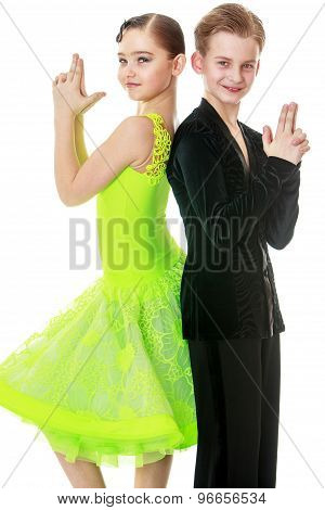 Youth dance couple