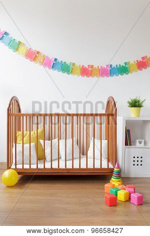 Simple Cot In Light Interior