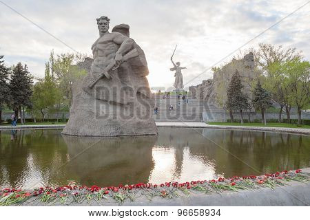 The Soldier monument in Mamayev Kurgan