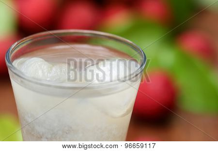Lychee Juice With Fruits