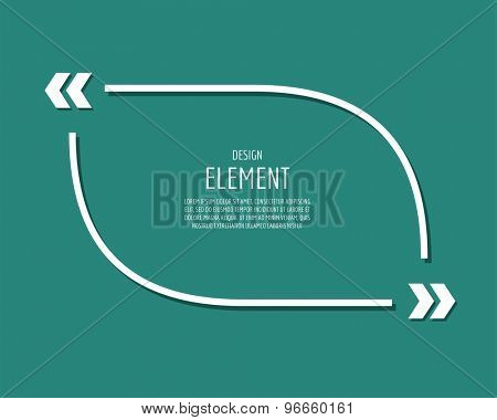 Design element similar to quote. Text, commas, quote and note. Vector stock element for design