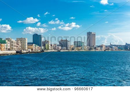 The famous Malecon in Havana, Cuba