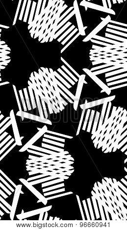 White Seamless Kaleidoscope Pattern