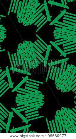 Green And Black Kaleidoscope Pattern