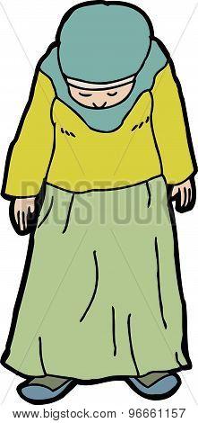 Depressed Muslim Woman