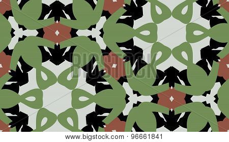 Green And Brown Symmetrical Pattern