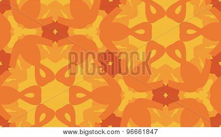 Hexagonal Pattern In Orange