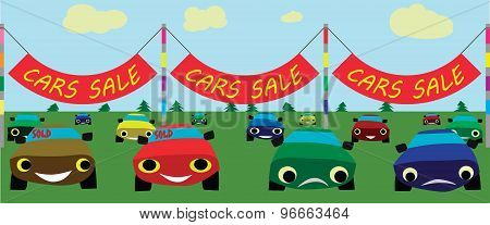 Cars sale vector image