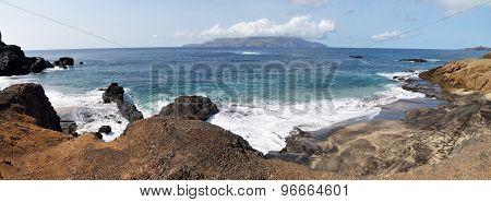 Islet Of Djeu In Proximity Of Island Brava
