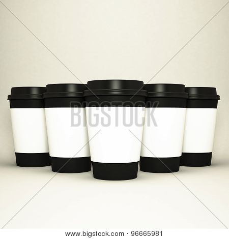 Paper Cups With Caps