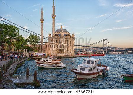 Ortakoy Mosque In Besiktas, Istanbul