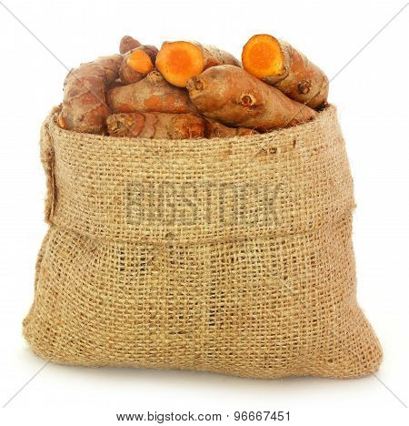 Turmeric In Sack Bag