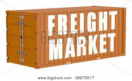 Cargo Container, Freight Market Concept
