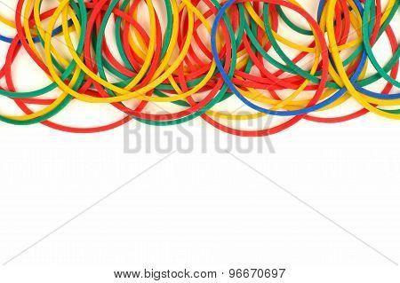 Top border of elastic rubber bands