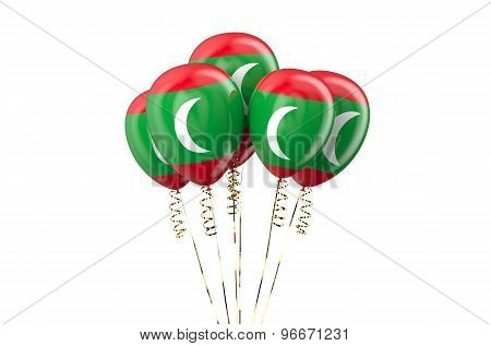 Maldives Patriotic Balloons,  Holyday Concept