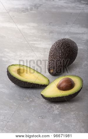 Half And Whole Avocado