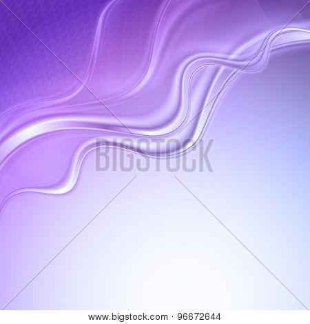 Purple abstract wave light background