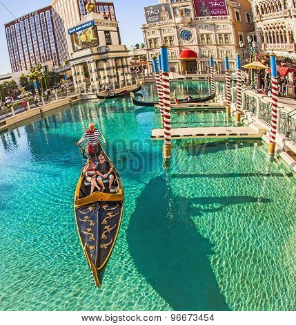 People Enjoy The Gondola At Venetian Resort Hotel