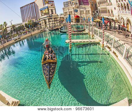 People Enjoy The Gondola At Venetian Resort Hotel