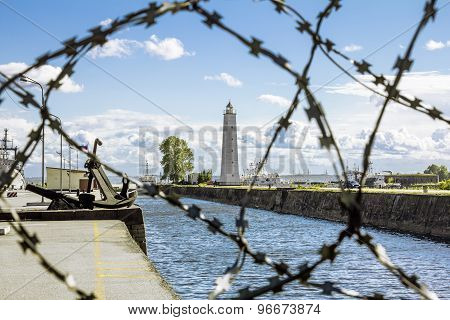 Views Of The Wooden Lighthouse In Kronstadt .st. Petersburg.