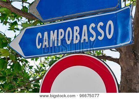 sign road of a italian city
