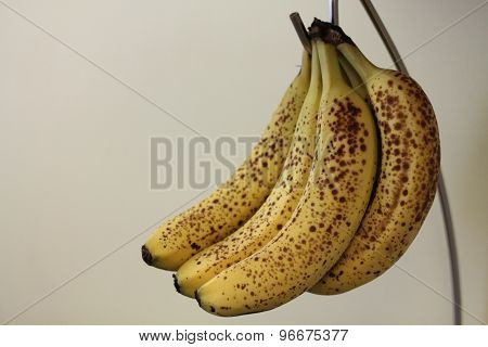 Ripe Bananas with Spots