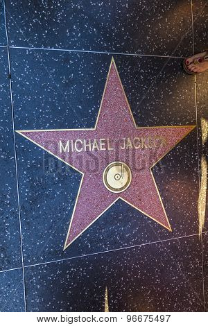 Michael Jackson's Star On Hollywood Walk Of Fame