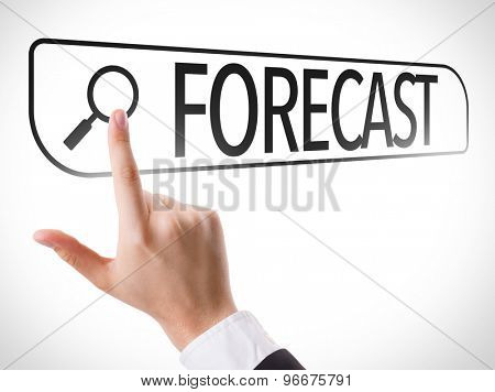 Forecast written in search bar on virtual screen