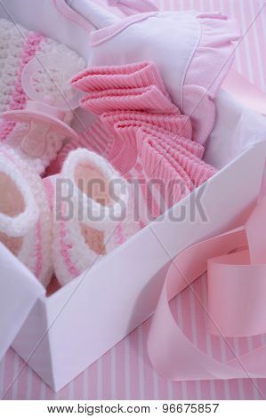 Its a Girl pink theme baby shower gift box