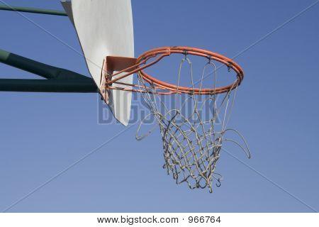 Worn Out Basketball Net