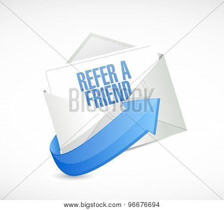 Refer A Friend Mail Sign Concept