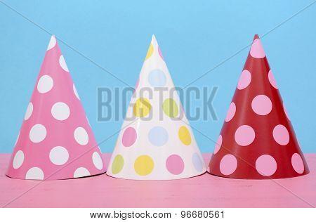 Bright Party Polka Dot Party Hats.