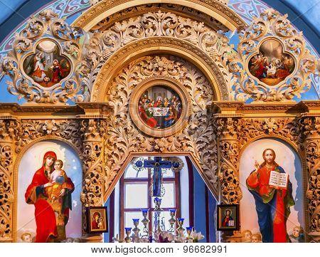 Ancient Basilica Mikhaylovsky Church Vydubytsky Monastery Kiev Ukraine