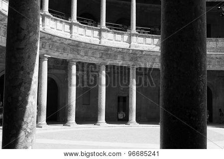 Columns Inside Charles V Palace