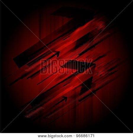 Abstract retro technology lines background