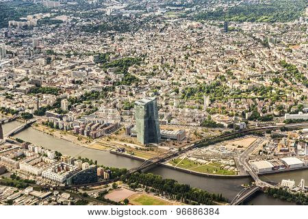 Aerial Of New Headquarters Of European Central Bank