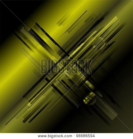 Abstract stripe technology green background